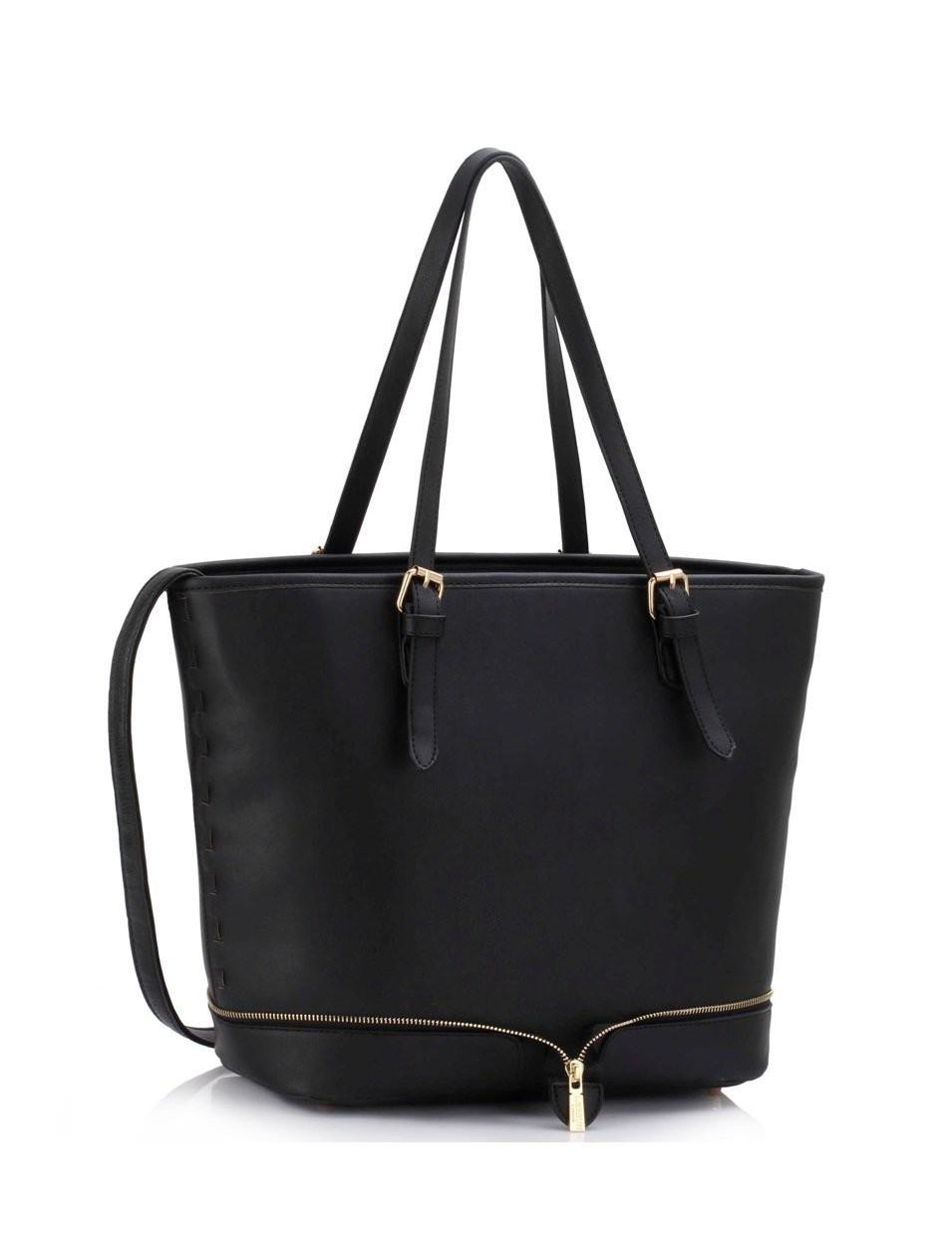 Černá elegantní prostorná kabelka Domnien