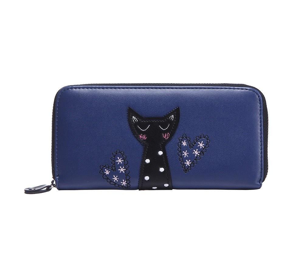 Modrá stylová dámská peněženka Sisi