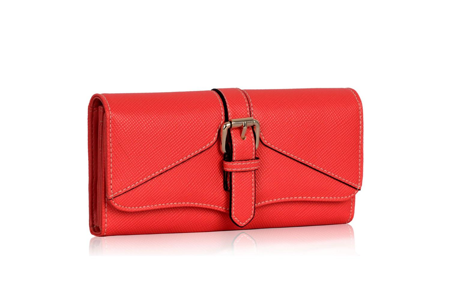 Červená dámská peněženka Flora