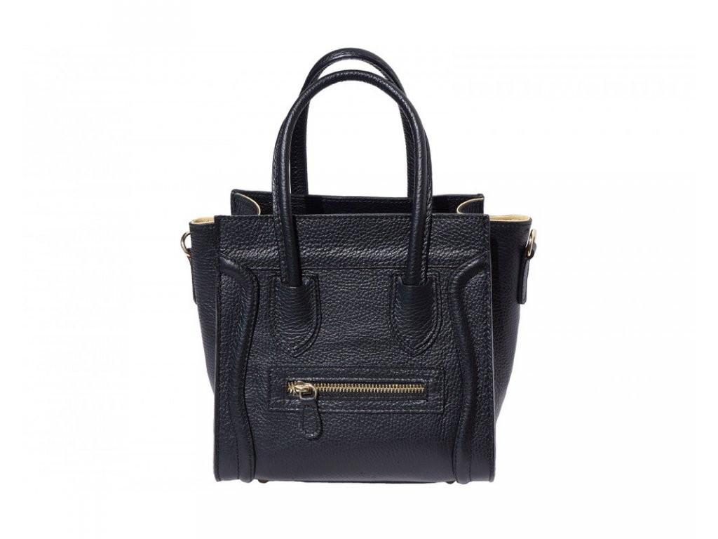 Černá dámská kožená kabelka Fatima