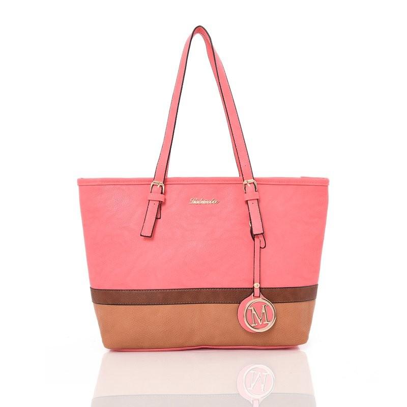 Růžová prostorná kabelka přes rameno Epilien