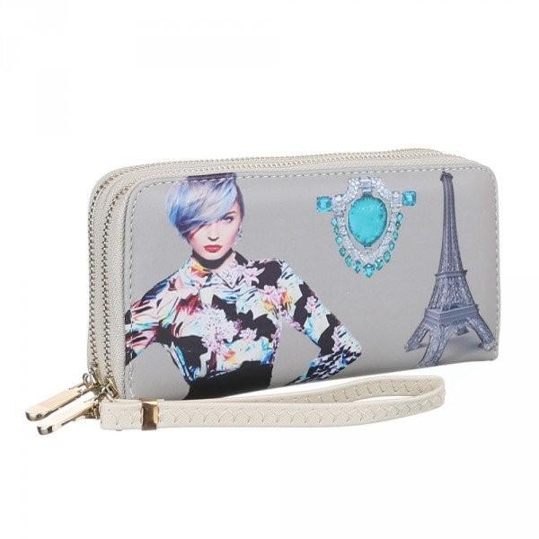 Šedá dámská peněženka Paříž