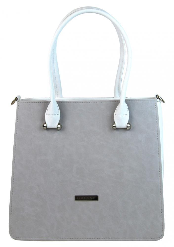 Šedá luxusní kabelka Gira