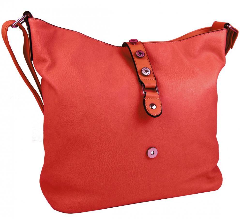 Červená crossbody kabelka Lesley
