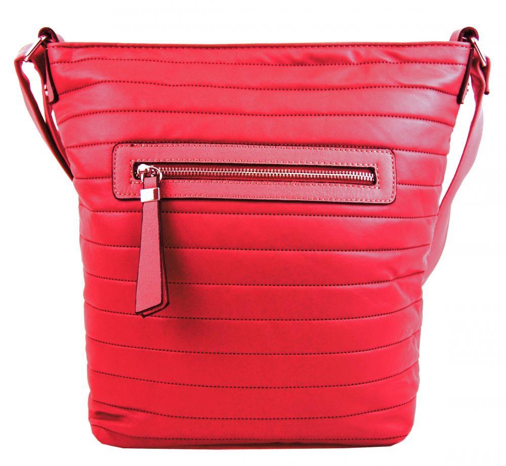 Červená crossbody kabelka Olivia