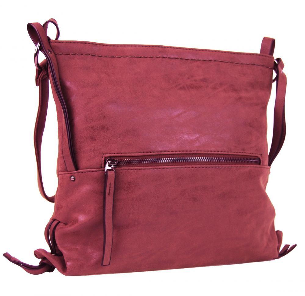 Malinově červená dámská crossbody kabelka Roxane