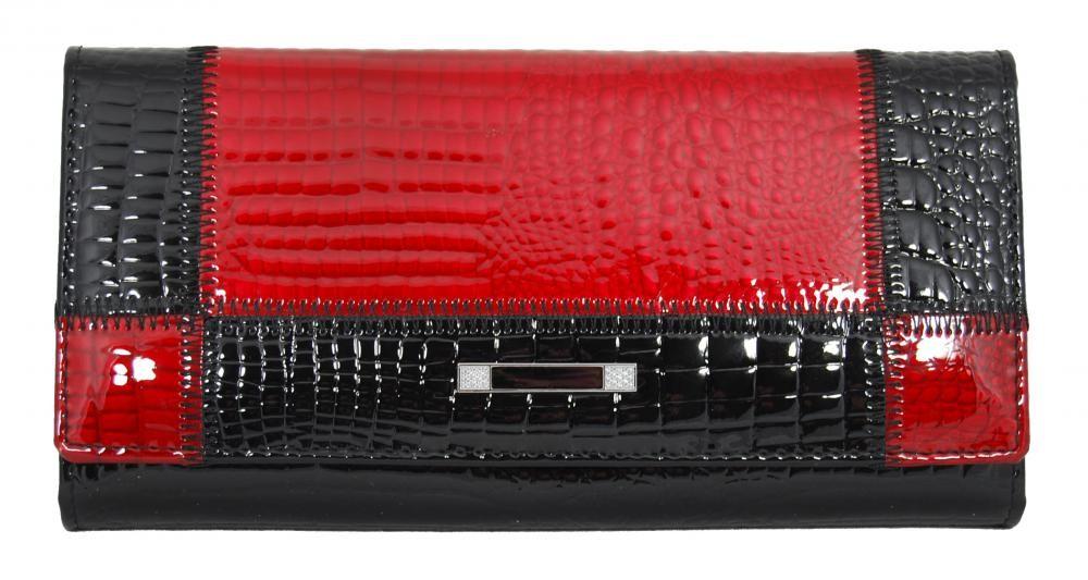 Červeno-černá dámská kožená peněženka Rihana