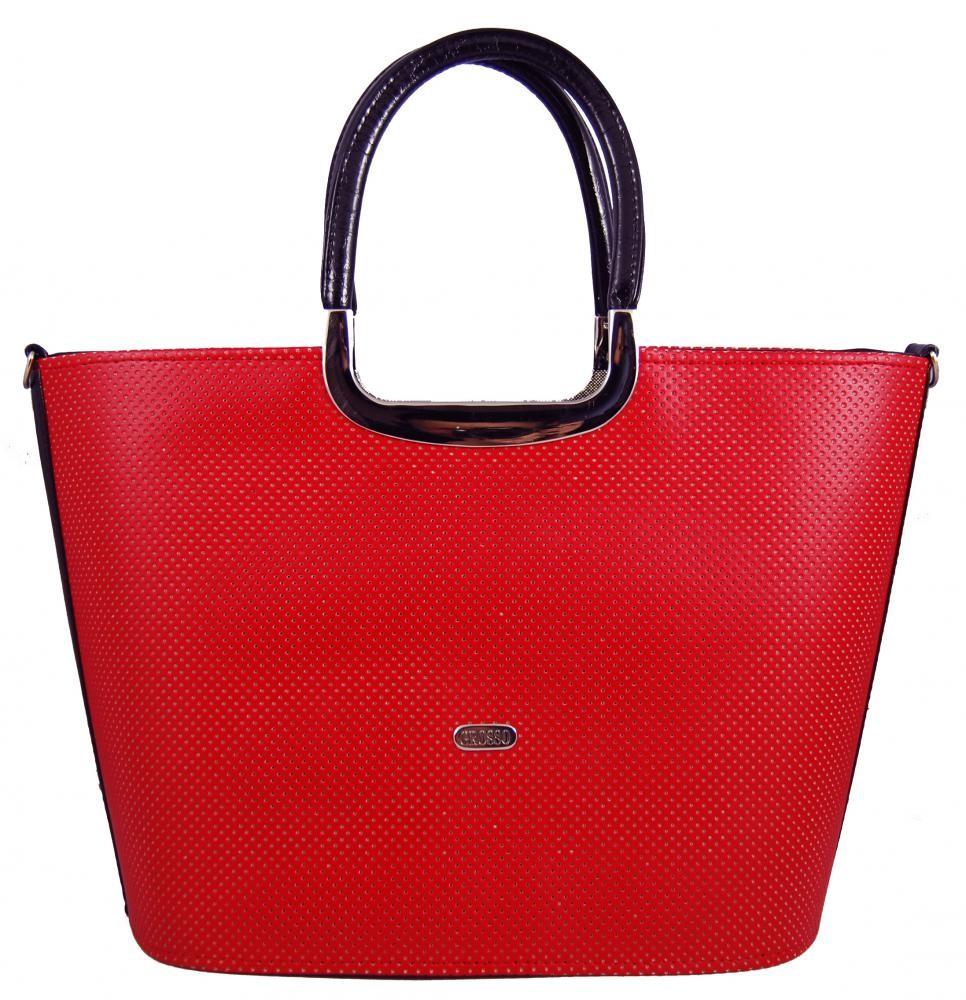 Červená luxusní kabelka do ruky Petsy