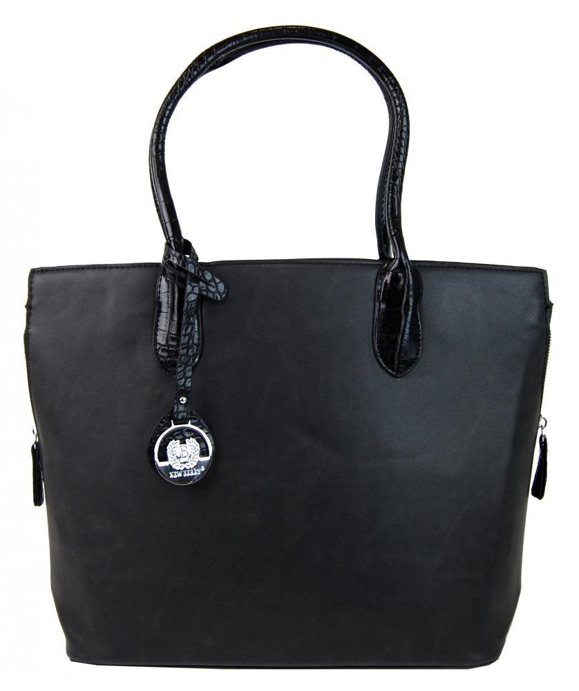 Černá elegantní kabelka s ozdobou Triten