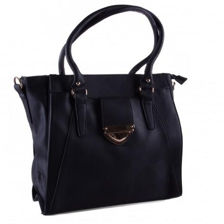 Černá větší kabelka přes rameno i do ruky Paliel
