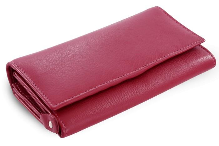 Vínová dámská kožená psaníčková peněženka Ayla