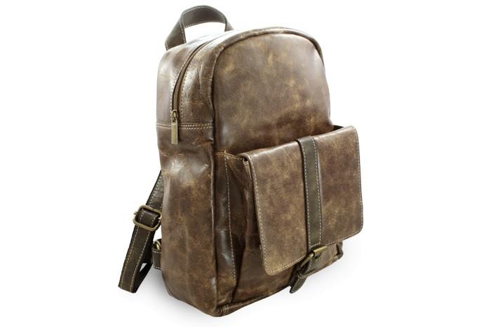 Hnědý kožený batoh Fridlie shop 248f037201