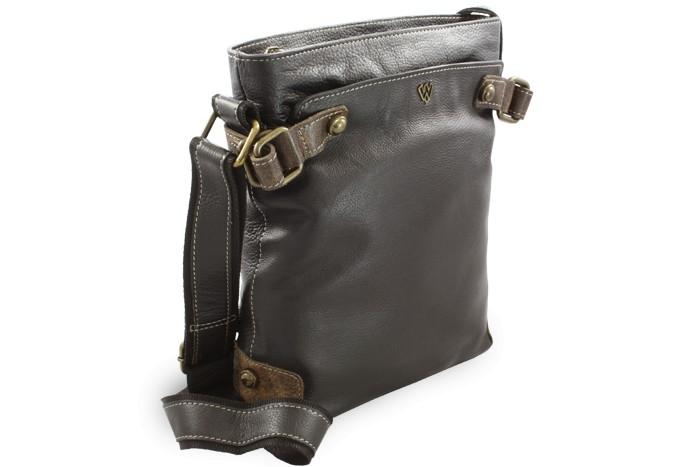 Černá kožená kabelka se zipem Mariel