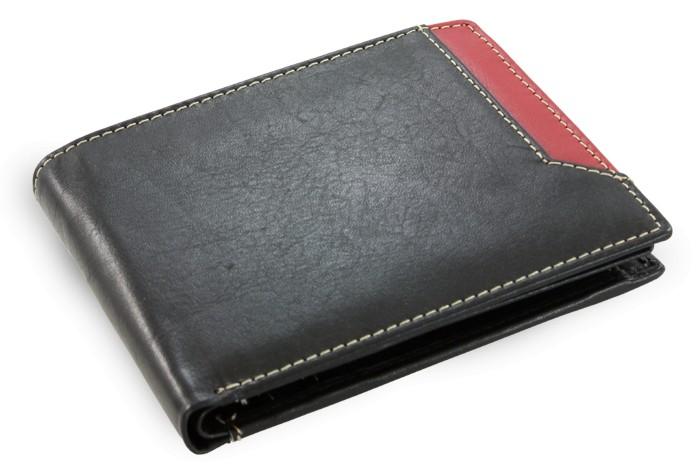 Černá pánská kožená peněženka Nenden