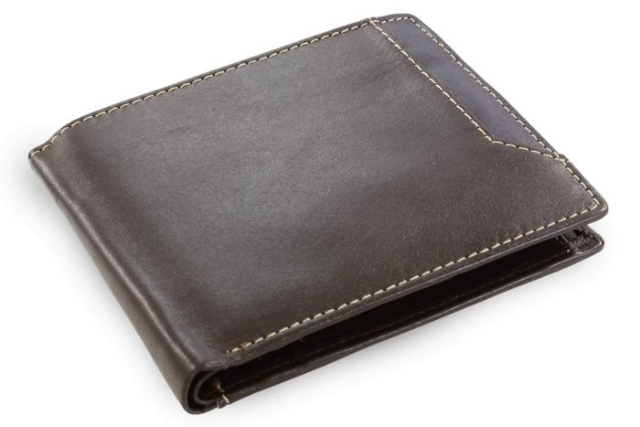 Tmavě hnědá pánská kožená peněženka Nenden