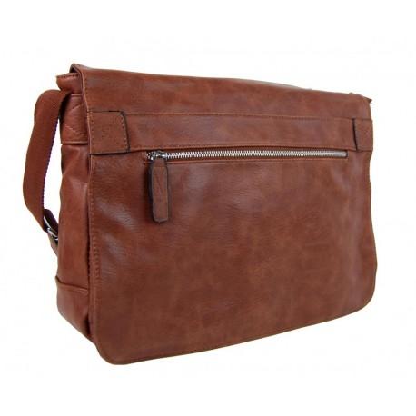 Tmavě hnědá pánská crossbody taška Janell
