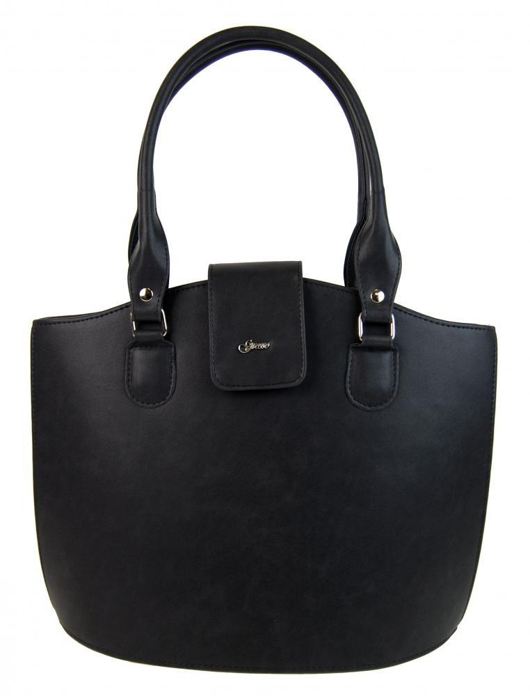 Černá matná elegantní kabelka se sponou Bieble