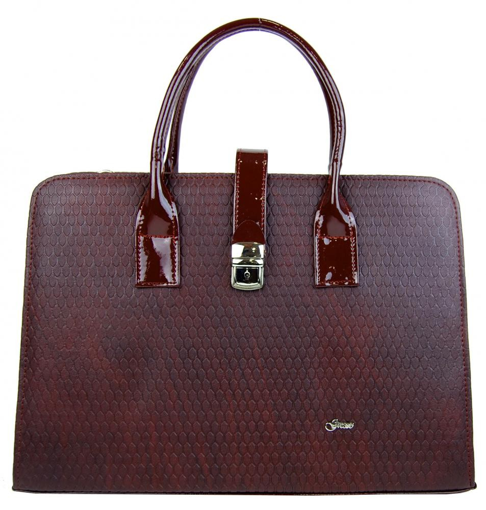 Bordó aktovka elegantní aktovková kabelka s kapkovou texturou
