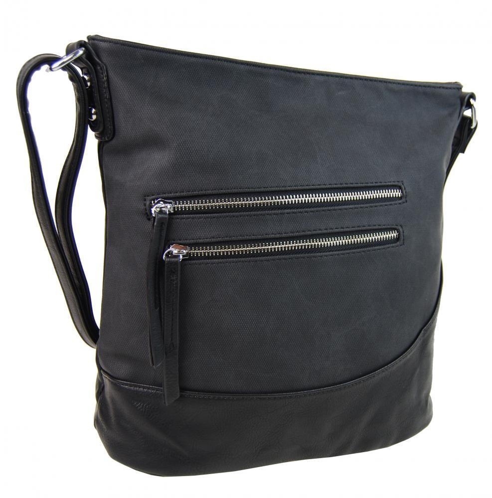 Černá elegantní crossbody kabelka Astrid