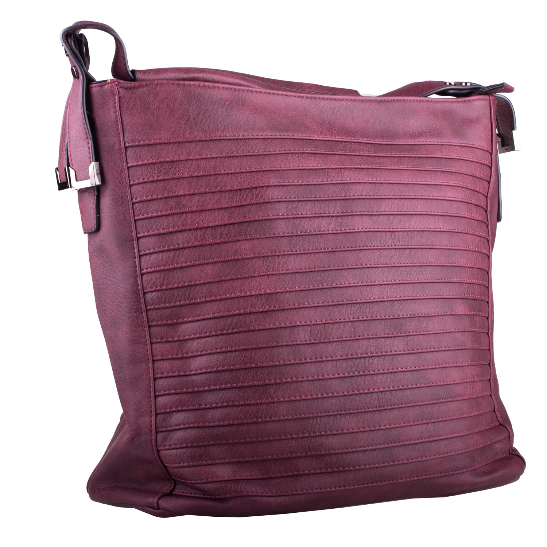 Červená velká dámská kabelka Sibien