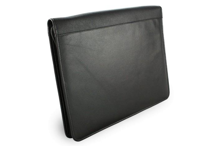 Černá kožená zipová spisovka Adolen