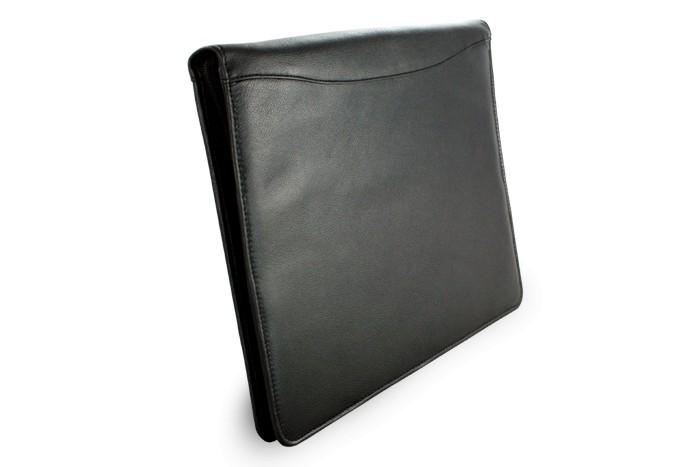 Černá kožená zipová spisovka Furelli