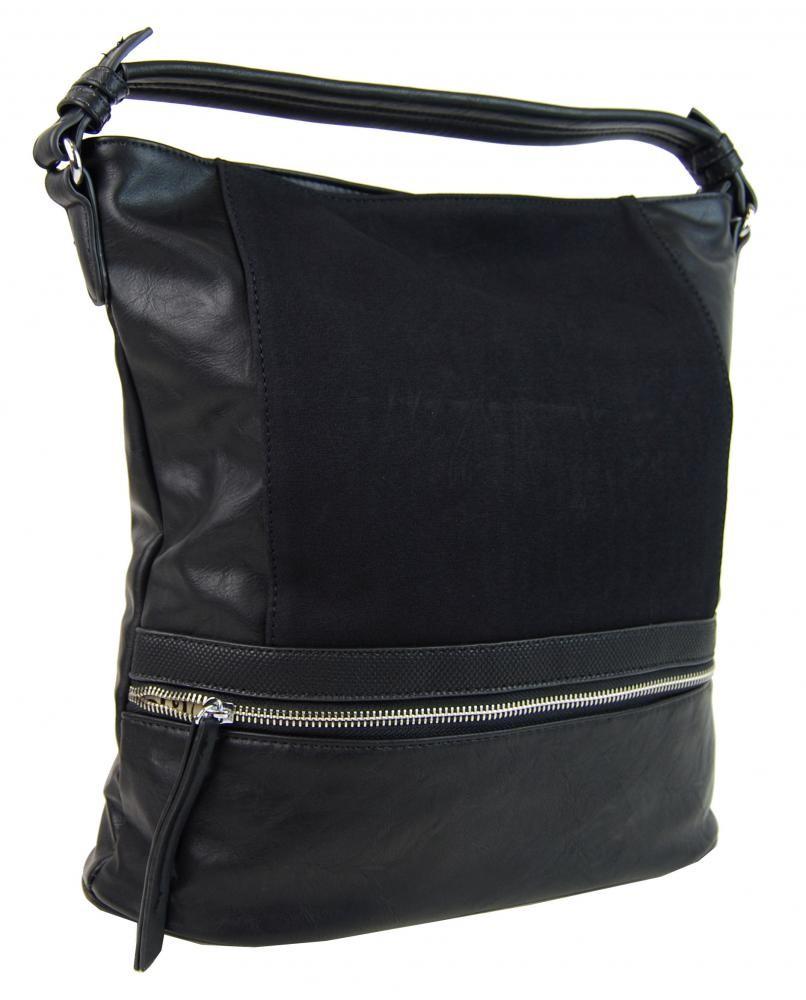 Černá dámská moderní kombinovaná kabelka Barbel