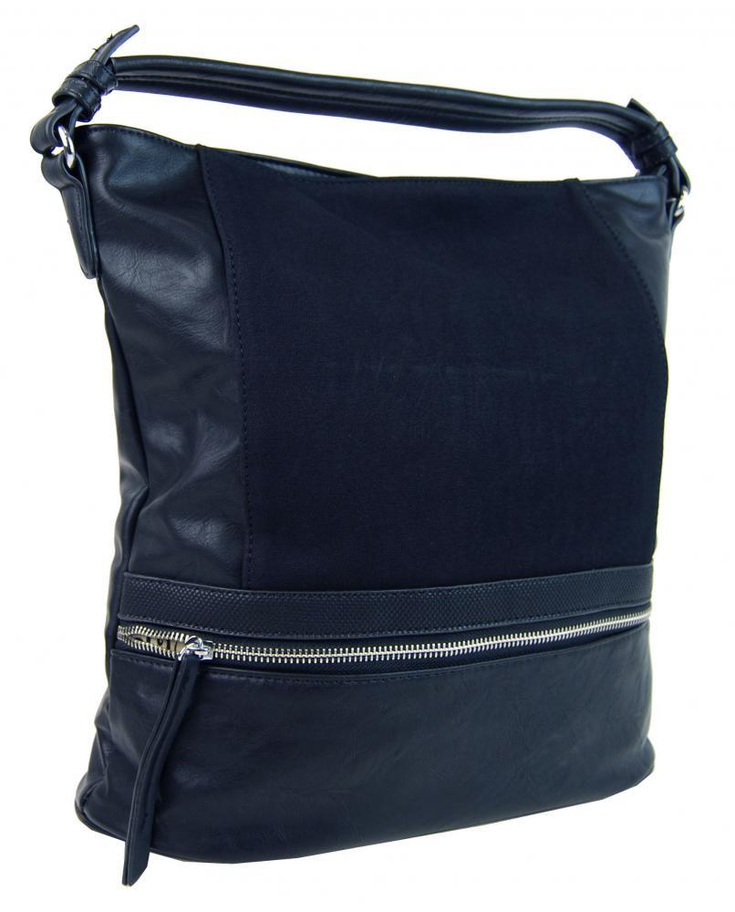Modrá dámská moderní kombinovaná kabelka Barbel