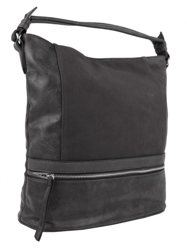 Tmavě šedá dámská moderní kombinovaná kabelka Barbel