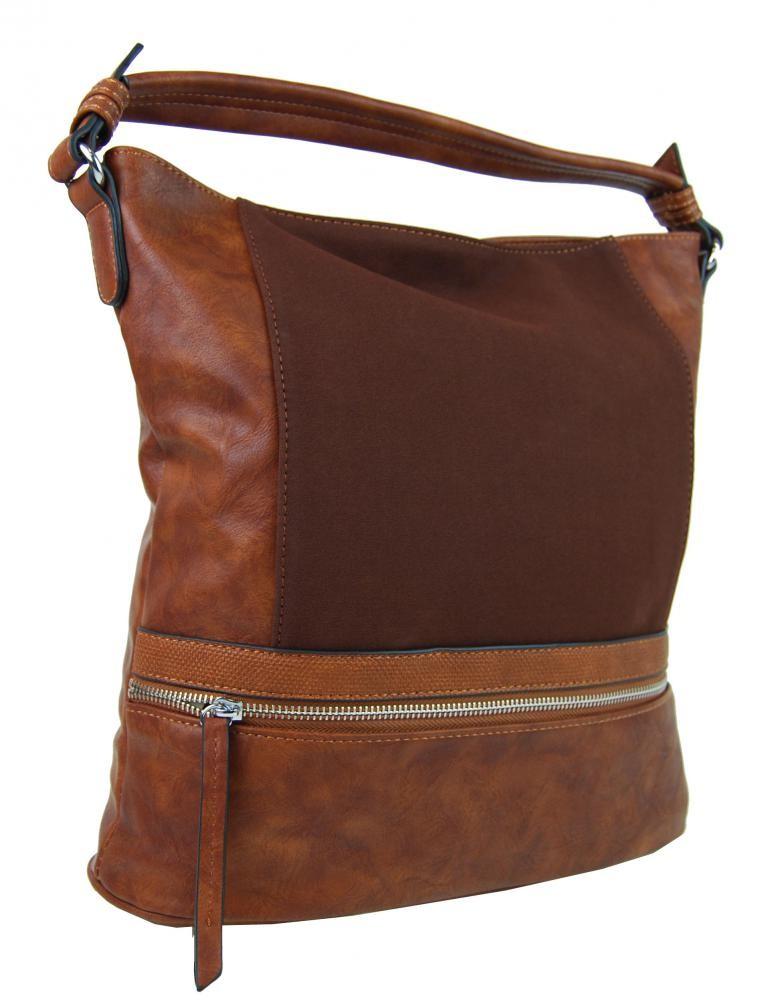 Hnědá dámská moderní kombinovaná kabelka Barbel