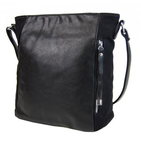 Černá elegantní kabelka s boční přihrádkou Firiel