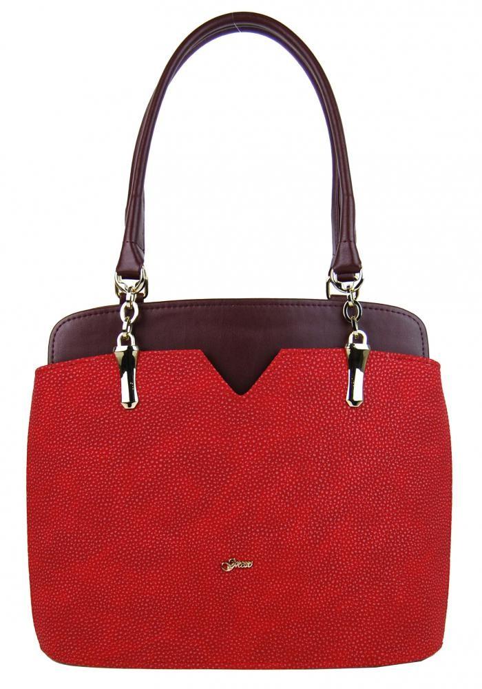 Červeno vínová elegantní kabelka na rameno Startie
