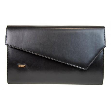 Černá matná dámská listová kabelka psaníčko Olivien