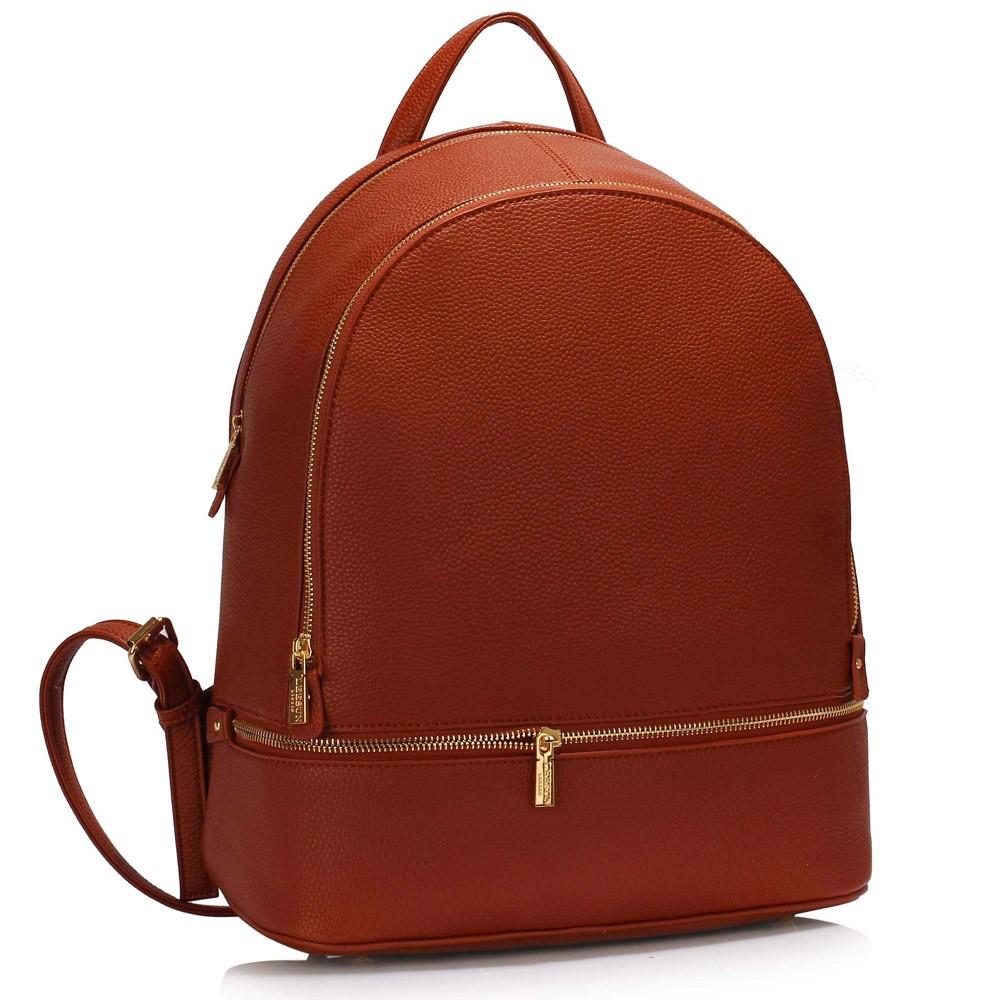 Hnědý dámský elegantní batoh Noviel