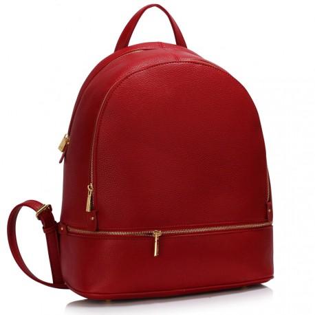 Sytě červený dámský batoh