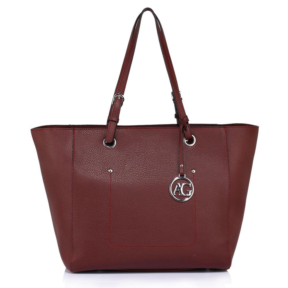 Vínově červená dámská moderní kabelka přes rameno Gandie