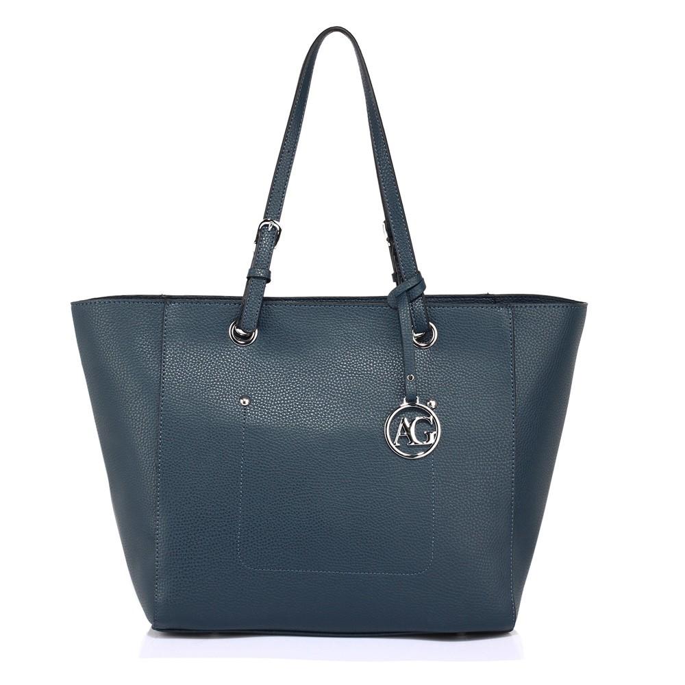 Modrá dámská moderní kabelka přes rameno Gandie