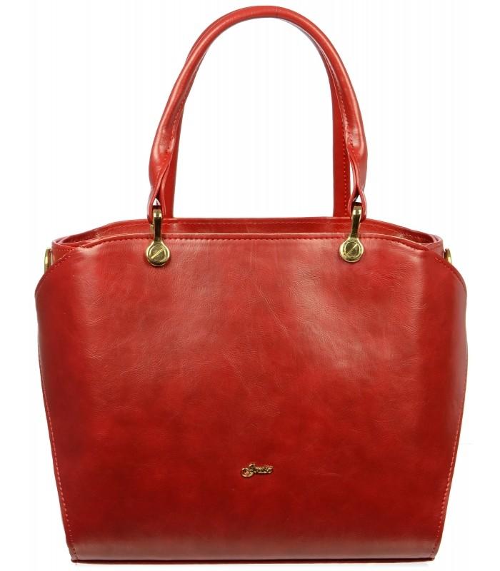 Červená elegantní dámská kabelka Konie