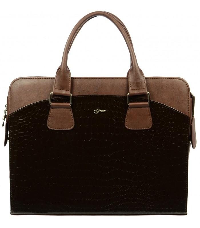 Hnědá dámská luxusní taška na notebook Kajam