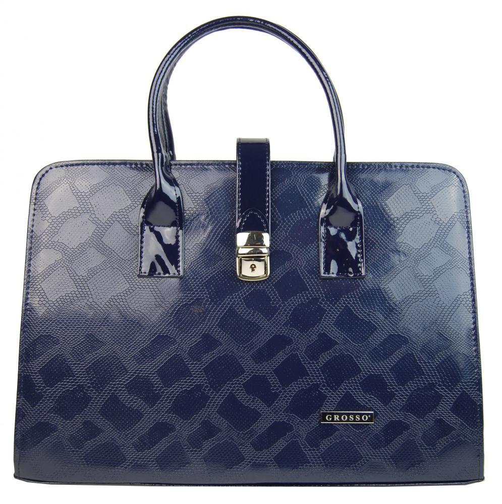 Modrá luxusní dámská aktovka Dutie