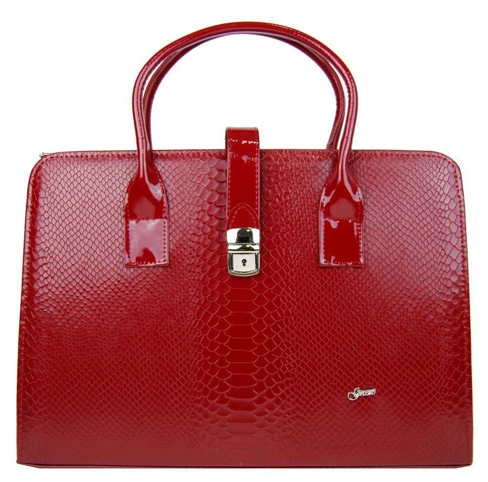 Červená luxusní dámská aktovka Dutie