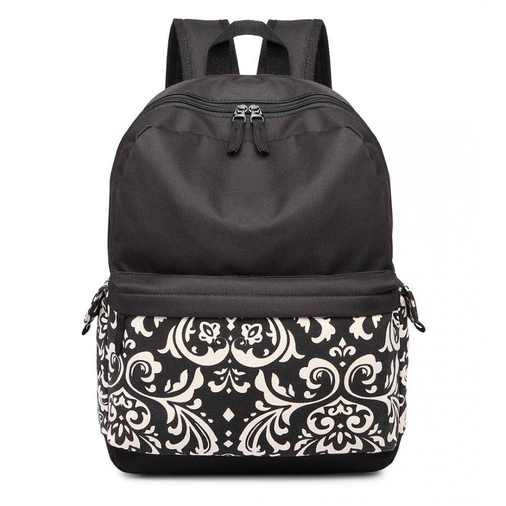 Černý unisex voděodolný batoh do školy Bundl