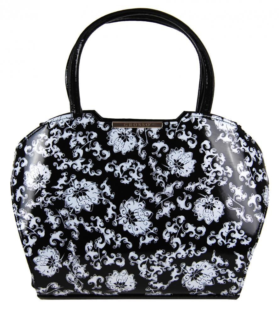 Černo bílá kabelka Amara