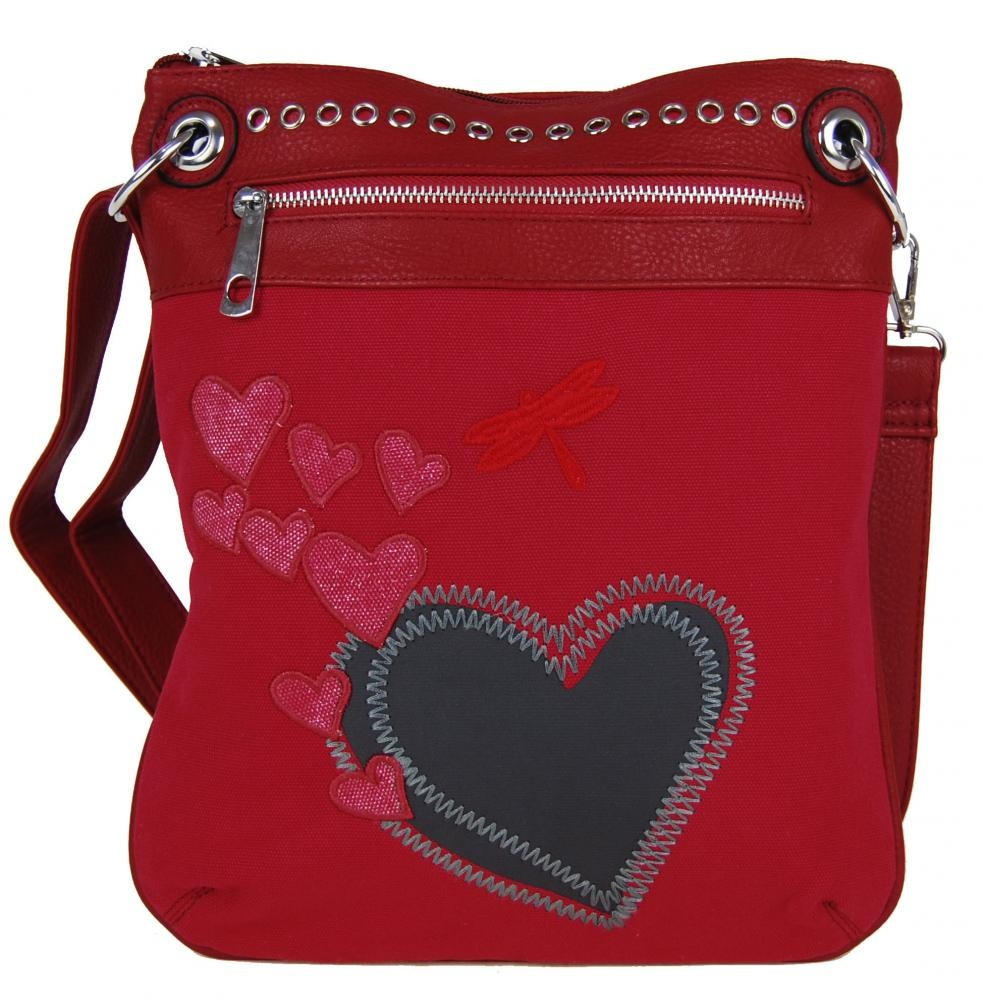Červená crossbody kabelka Ariel