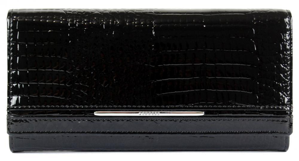 Černá kožená peněženka Azura