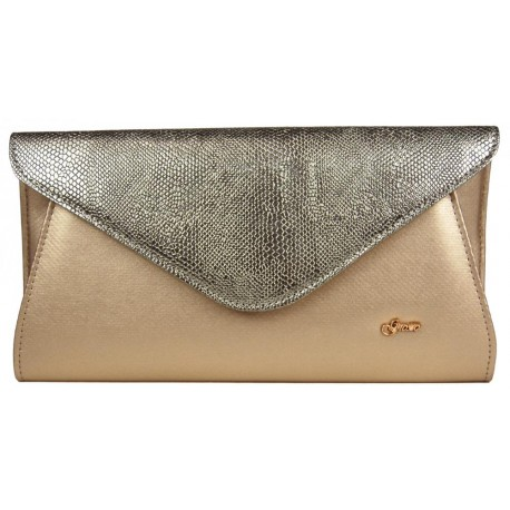 Zlatá listová kabelka Caridad