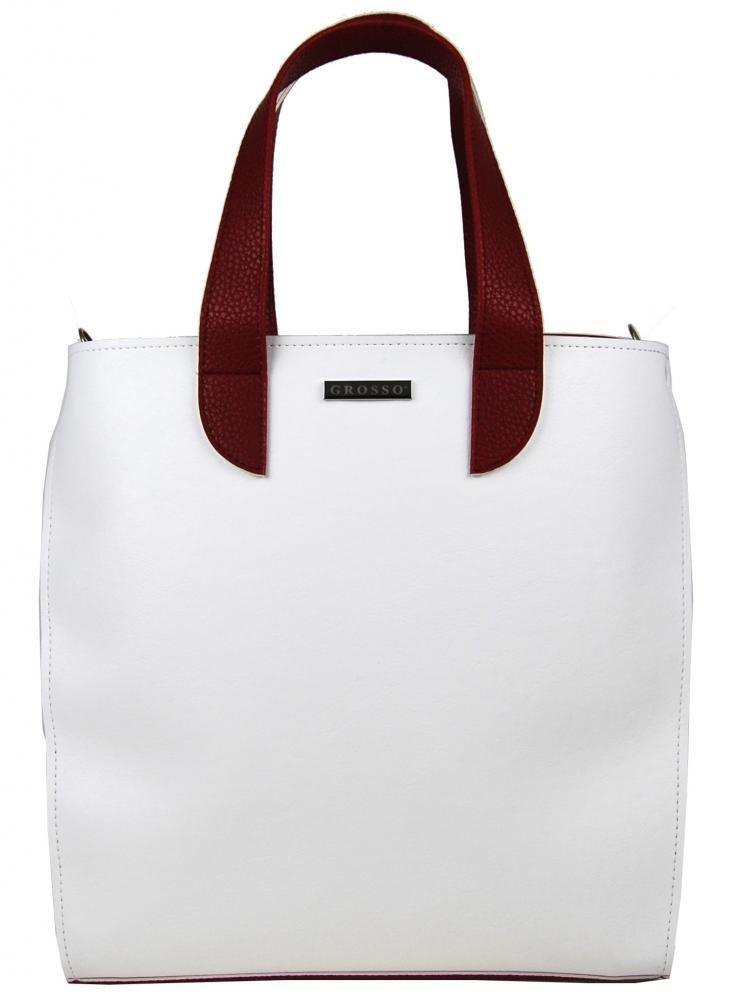 Bílo modro červená kabelka Catarina