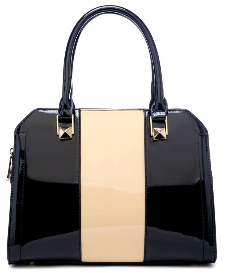 Černo béžová kabelka do ruky Cleopatra