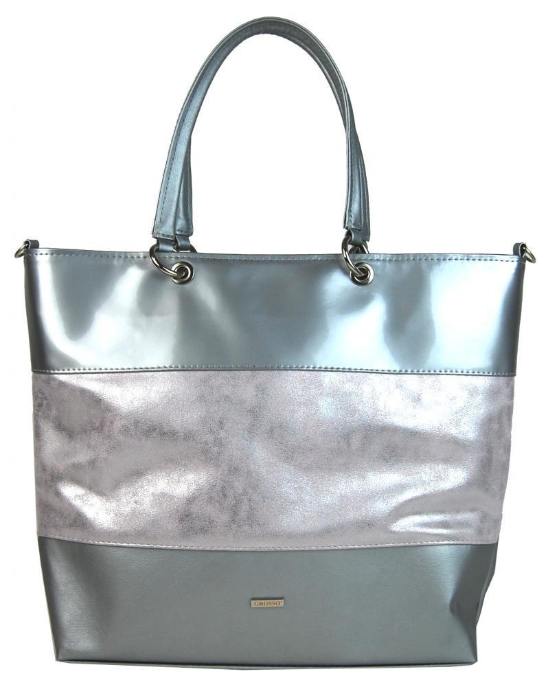 Stříbrno růžová kabelka Cristal
