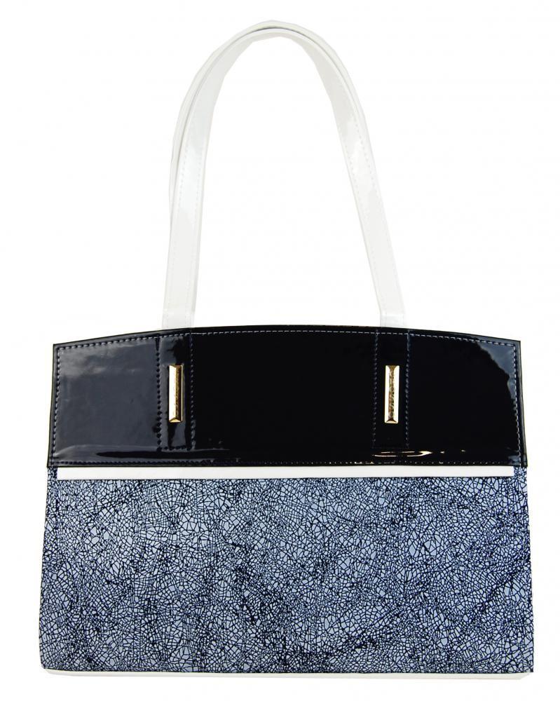 Modro bílá kabelka na rameno Isadora